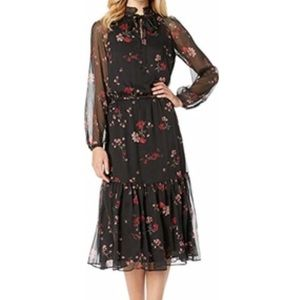 NWT RALPH LAUREN Georgette floral dress